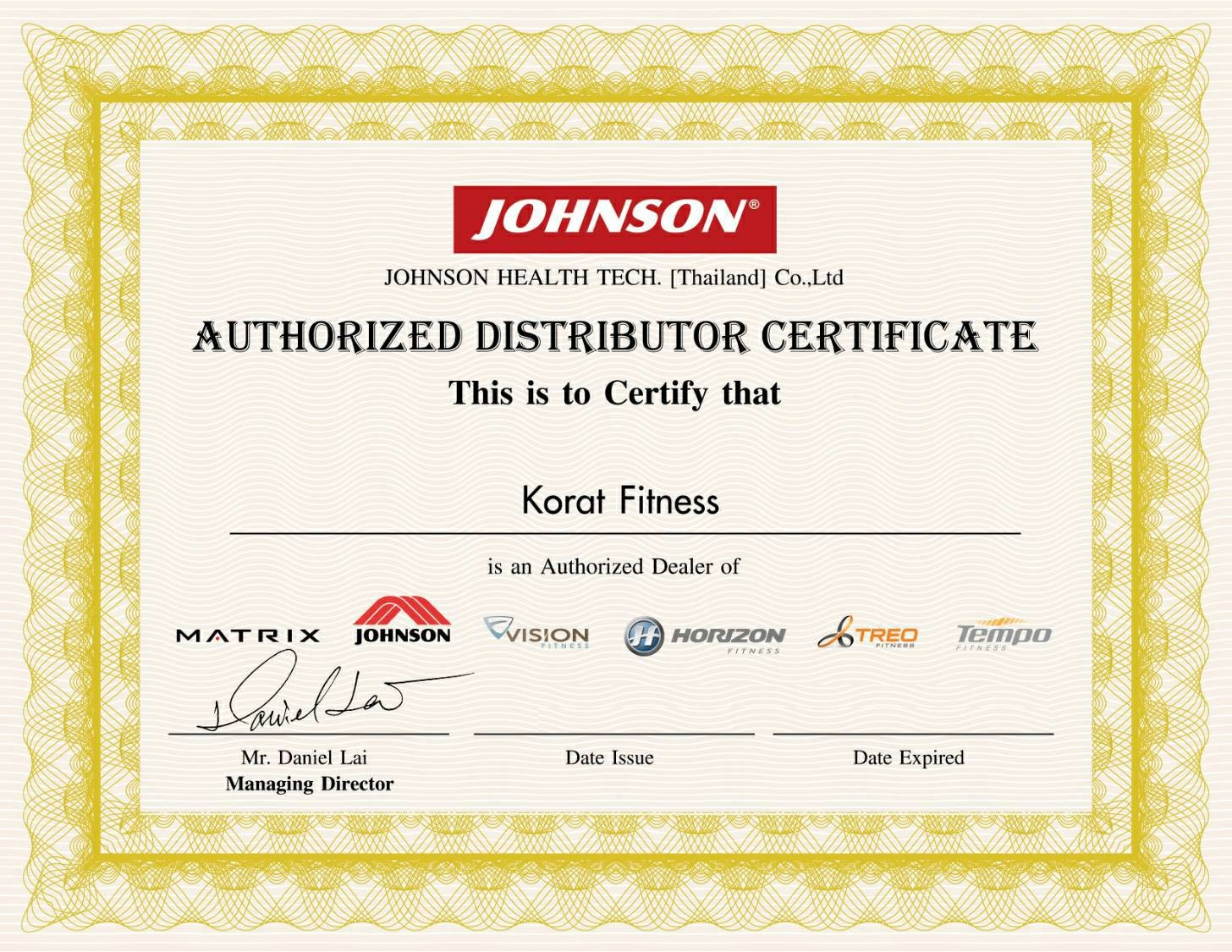 Korat fitness certificate